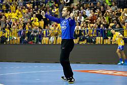 Klemen Ferlin of RK Celje Pivovarna Lasko during handball match between RK Celje Pivovarna Lasko (SLO) and HC PPD Zagreb (CRO) in Group phase of VELUX EHF Men's Champions League 2018/19, November 18, 2018 in Arena Zlatorog, Celje, Slovenia. Photo by Urban Urbanc / Sportida
