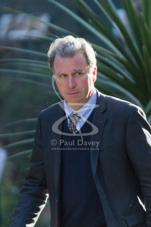 Downing Street, London, March 31st 2016. Chancellor of the Duchy of Lancaster and Policy Advisor Oliver Letwin arrives in Downing Street for an emergency meeting of senior government officials to discuss strategies aimed at saving the British steel industry following Tata Steel's decision to close the loss-making Port Talbot steel plant at Downing Street, London. ©Paul Davey<br /> FOR LICENCING CONTACT: Paul Davey +44 (0) 7966 016 296 paul@pauldaveycreative.co.uk