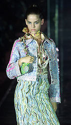 Julien Macdonald Collection Spring/Summer 2001 London Fashion Week. 26/9/2000 Julien Macdonald with first big brother star Anna, August 6, 2000..Photo by Andrew Parsons/i-Images.