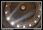 Sun streams through the Dome at St. Peter's Basilica<br /> Vatican City<br /> March 2014