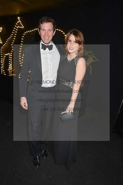 PRINCESS EUGENIE OF YORK and JACK BROOKSBANK at The Animal Ball presented by Elephant Family held at Victoria House, Bloomsbury Square, London on 22nd November 2016.