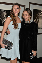 Left to right, NATALIA WALTER and CHLOE GREEN at the IWC Schaffhausen Gala Dinner in honour of the British Film Institute held at the Battersea Evolution, Battersea Park, London on 7th October 2014.
