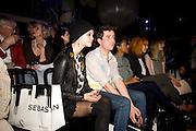 PIXIE GELDOF; TOM GIDDINS, ' Colour Me Happy' House of Holland fashion show , Quaglinos. Bury St. London. 24 February 2009.