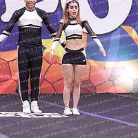 1042_golden all stars - Senior Coed Level 5 Partner Stunt