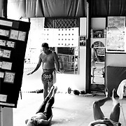 Muay Thai training session in Bangkok, Thailand.