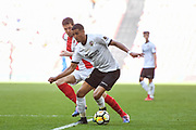 Louis Dennis of Bromley FC (10) in action during the FA Trophy match between Brackley Town and Bromley at Wembley Stadium, London, England on 20 May 2018. Picture by Stephen Wright.