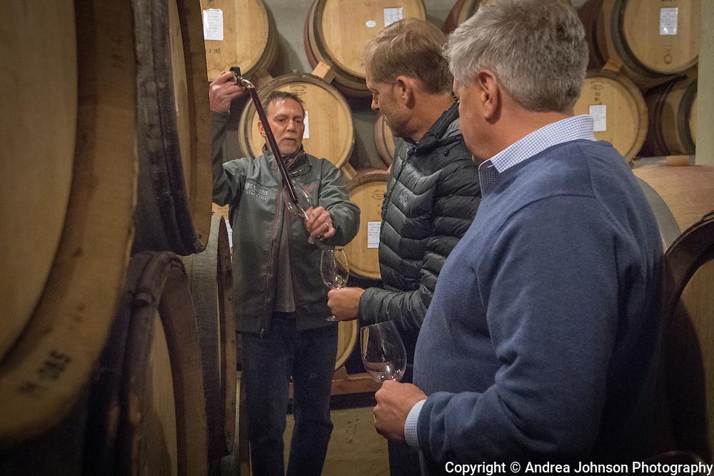 Barrel tasting, Cristom Vineyards, Eola-Amity Hills AVA, Willlamette Valley, Oregon