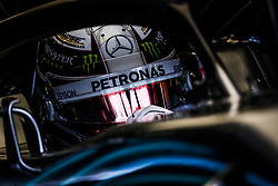 April 27, 2018 - Baku, Azerbaijan - HAMILTON Lewis (gbr), Mercedes AMG F1 Petronas GP W09 Hybrid EQ Power+, action during the 2018 Formula One World Championship, Grand Prix of Europe in Azerbaijan from April 26 to 29 in Baku - Photo  /  Motorsports: World Championship; 2018; Grand Prix Azerbaijan, Grand Prix of Europe, Formula 1 2018 Azerbaijan Grand Prix, (Credit Image: © Hoch Zwei via ZUMA Wire)