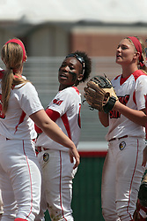 09 May 2014:   Nichelle Harrison during an NCAA Missouri Valley Conference (MVC) Championship series women's softball game between the Loyola Ramblers and the Illinois State Redbirds on Marian Kneer Field in Normal IL