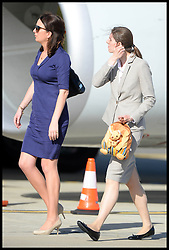 Kate's private secretary Rebecca Deacon and George's nanny Maria Teresa Turrion Borrallo arrive with The Duke and Duchess of Cambridge arrive at Sydney airport, Australia, with Prince George on day 10 of their Royal Tour of New Zealand and Australia, Wednesday, 16th April 2014. Picture by Andrew Parsons / i-Images