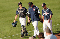 New Hampshire Fisher Cats versus the Portland Sea Dogs in Manchester July 9, 2011.  (Karen Bobotas/for the Concord Monitor)