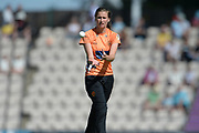 Lauren Bell of Southern Vipers during the Women's Cricket Super League match between Southern Vipers and Yorkshire Diamonds at the Ageas Bowl, Southampton, United Kingdom on 8 August 2018.