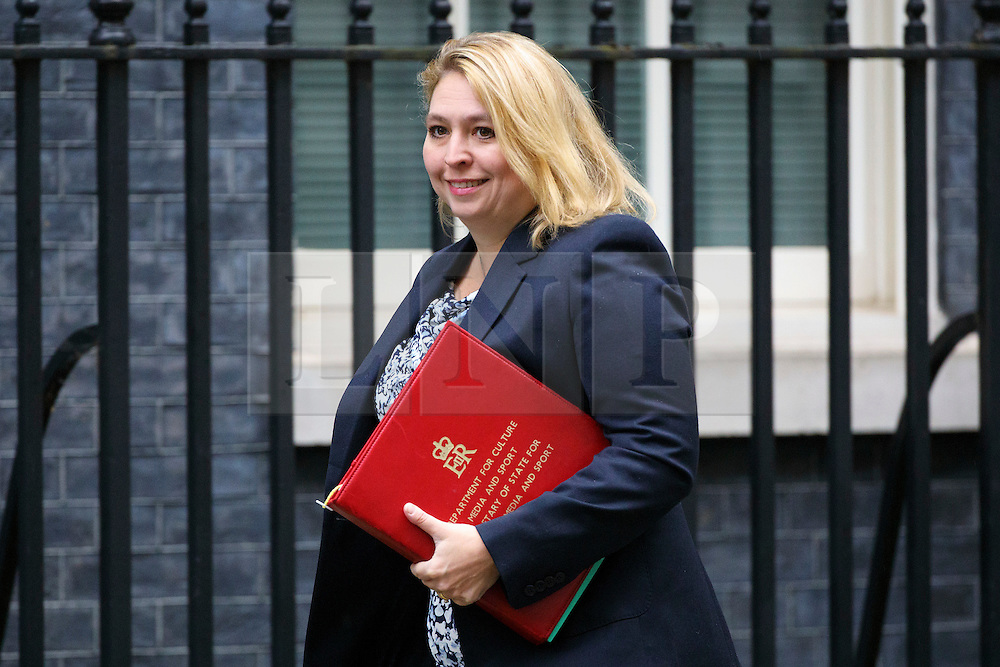 © Licensed to London News Pictures. 18/10/2016. London, UK. Culture, Media and Sport Secretary KAREN BRADLEY attends a cabinet meeting in Downing Street on Tuesday, 18 October 2016. Photo credit: Tolga Akmen/LNP