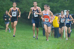 Trey Miller (185/University of Virginia),  Ryan Foster (184/University of Virginia), and  Emil Heineking (169/Unattached) lead the race.  The Lou Onesty Invitational Cross Country meet was hosted by the University of Virginia XC team and held at Panorama Farms near Charlottesville, VA on September 6, 2008.  Athletes endured rain and wind from Tropical Storm Hanna during the race.