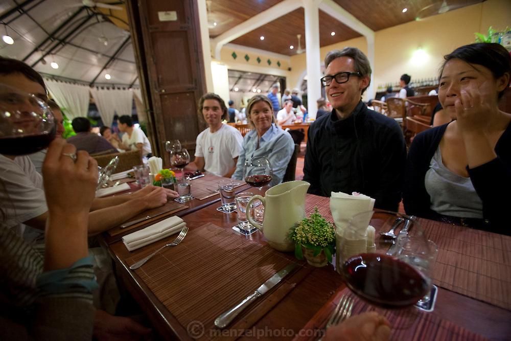 Dinner at Tamarind Restaurant, Luang Prabang, Laos.