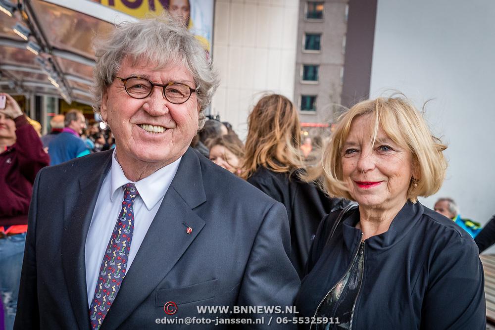 NLD/Rotterdam/20170319 - inloop De Marathon de Musical, Bram Peper en partner Maria Heiden