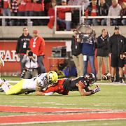 The University of Oregon Ducks defeated the University of Utah Utes 51-27 at Rice-Eccles Stadium, Salt Lake City, Utah. Photo by Barry Markowitz, 11/8/14, 8pm
