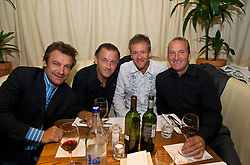 NOTTINGHAM, ENGLAND - Saturday, June 13, 2009: Mats Wilander (SWE), Mikael Pernfors (SWE), Anders Jarryd (SWE), Peter McNamara (AUS) during the players' party at the Living Room on day two of the Tradition Nottingham Masters tennis event. (Pic by David Rawcliffe/Propaganda)