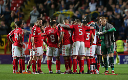 The Charlton Athletic team after the match - Mandatory by-line: Paul Terry/JMP - 10/05/2018 - FOOTBALL - The Valley - Charlton, London, England - Charlton Athletic v Shrewsbury Town - Sky Bet League One