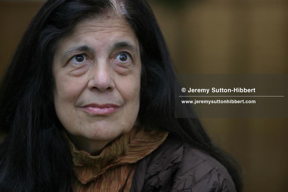 SUSAN SONTAG, AMERICAN WRITER AND COMMENTATOR...EDINBURGH INTERNATIONAL BOOK FESTIVAL 2003.EDINBURGH, SCOTLAND.