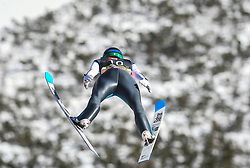March 22, 2019 - Planica, Slovenia - Tilen Bartol of Slovenia seen in action during the trial round of the FIS Ski Jumping World Cup Flying Hill Individual competition in Planica. (Credit Image: © Milos Vujinovic/SOPA Images via ZUMA Wire)
