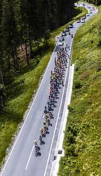 11.07.2019, Kitzbühel, AUT, Ö-Tour, Österreich Radrundfahrt, 5. Etappe, von Bruck an der Glocknerstraße nach Kitzbühel (161,9 km), im Bild Peloton in den Bergen // Peloton in den Bergen during 5th stage from Bruck an der Glocknerstraße to Kitzbühel (161,9 km) of the 2019 Tour of Austria. Kitzbühel, Austria on 2019/07/11. EXPA Pictures © 2019, PhotoCredit: EXPA/ JFK