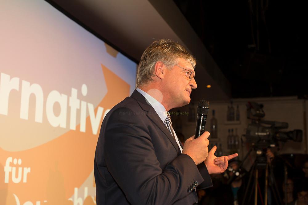 DE, DEUTSCHLAND, Berlin, Traffic Club. 24.09.2017 / Wahlparty der AfD. Joerg Meuthen, Bundessprecher der AfD, spricht zu den Anhaengern auf der AfD-Wahlparty.