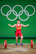 Qingquan Long of China winning the Gold medal in the Men's 56 Kg Weightlifting during XXXI 2016 Olympic Summer Games at Rio de Janeiro, Brazil.<br /> Picture by EXPA Pictures/Focus Images Ltd 07814482222<br /> 08/08/2016<br /> *** UK &amp; IRELAND ONLY ***<br /> <br /> EXPA-Eibner-Pressefoto-160808-5055.jpg