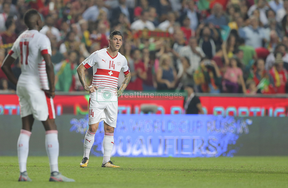 October 10, 2017 - Na - Lisbon, 10/10/2017 - The Portuguese football team received their Swiss counterpart tonight in the last game of the group stage to qualify for the 2018 FIFA World Cup in Russia , next June. Portugal won 2-0 to reach the final. Zuber  (Credit Image: © Atlantico Press via ZUMA Wire)