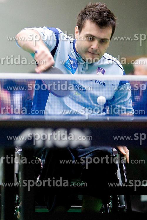 Primoz Kancler of Slovenia at 7th Slovenia Open - Thermana Lasko 2010 Table Tennis Championships for the Disabled Factor 40, on May 6, 2010, in Dvorana Tri Lilije,  Lasko, Slovenia.  (Photo by Vid Ponikvar / Sportida)