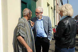 March 30, 2019 - Newport, England, United Kingdom - Labour leader Jeremy Corbyn joins activists for a day of canvassing for Labour candidate Ruth Jones in the Newport West, England, on 30 March 2019 by election on 4th April. (Credit Image: © Mi News/NurPhoto via ZUMA Press)