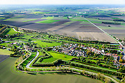 Nederland, Zeeland, Zeeuws-Vlaanderen, 19-10-2014; Retranchement, dorp met verschansing.<br /> Village with entrenchment, on the border with Belgium.<br /> luchtfoto (toeslag op standard tarieven);<br /> aerial photo (additional fee required);<br /> copyright foto/photo Siebe Swart