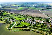 Nederland, Zeeland, Zeeuws-Vlaanderen, 19-10-2014; Retranchement, dorp met verschansing.<br /> Village with entrenchment, on the border with Belgium.<br /> luchtfoto (toeslag op standard tarieven);<br /> aerial photo (additional fee required);<br /> copyright foto/photo Siebe Swart
