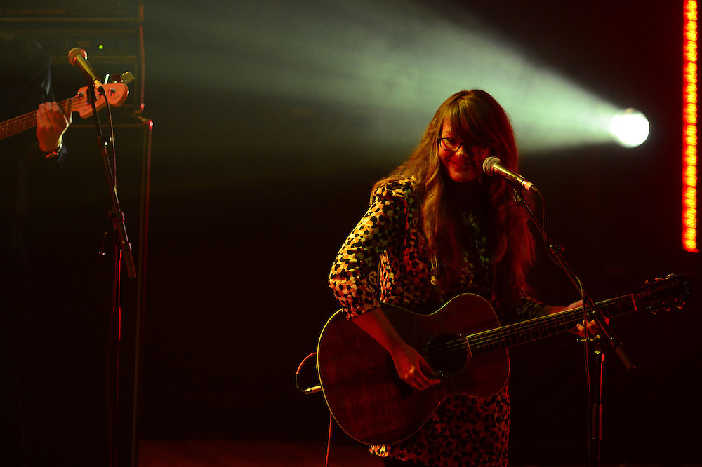 Victoria Girling-Butcher performing at the APRA Silver Scroll Awards 2012. Auckland Town Hall. 13 September 2012.