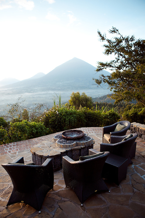 The view from Virunga Lodge