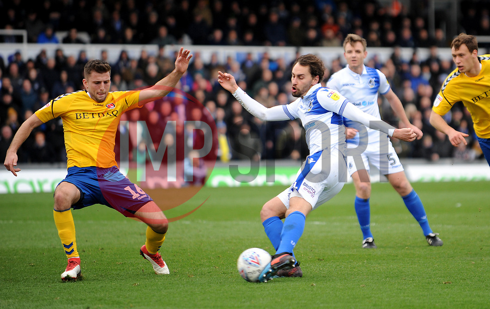 Edward Upson of Bristol Rovers shoots at goal -Mandatory by-line: Nizaam Jones/JMP- 16/03/2019 - FOOTBALL - Memorial Stadium - Bristol, England - Bristol Rovers v Charlton Athletic - Sky Bet League One