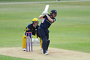 Eoin Morgan of Middlesex batting during the Royal London One Day Cup match between Hampshire County Cricket Club and Middlesex County Cricket Club at the Ageas Bowl, Southampton, United Kingdom on 23 April 2019.