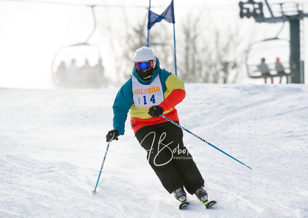 Alpine ski race for Division III high schools at Gunstock.  Karen Bobotas Photographer