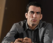 BIRMINGHAM, ENGLAND, NOVEMBER 3, 2011: Braulio Estima is pictured at the pre-fight press conference for UFC 138 inside the Hilton Hotel on November 3, 2011.