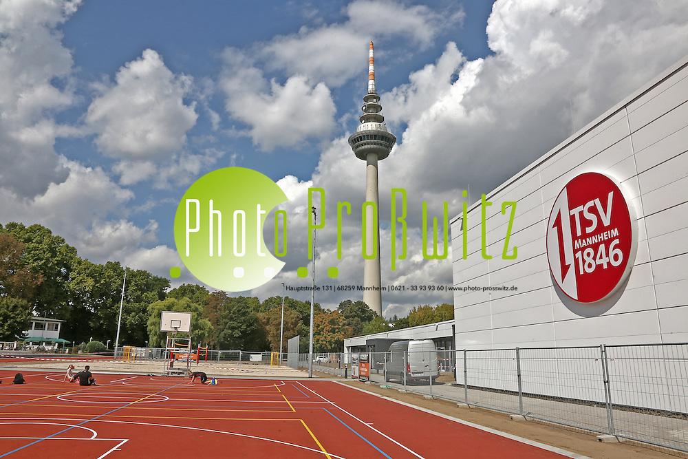 Mannheim. 21.08.14 TSV 1846. Neubau einer Sportanlage neben den Hockeyanlagen des Vereins.<br /> <br /> Bild: Markus Pro&szlig;witz 21AUG14 / masterpress