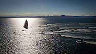 BRAZIL, Itajai. 6th April 2012. Volvo Ocean Race, Leg 5, Auckland-Itajai. Local spectator fleet follow leg leaders Puma powered by BERG.