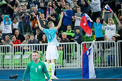 Alen Fetic of Slovenia clebrates during futsal match between Slovenia and Serbia at Day 1 of UEFA Futsal EURO 2018, on January 30, 2018 in Arena Stozice, Ljubljana, Slovenia. Photo by Ziga Zupan / Sportida