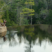Fly fishing the Ellis River at the Goodrich Dam in Bartlett, NH