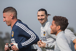 March 30, 2018 - Carson, California, U.S - Zlatan Ibrahimovic #9 of the LA Galaxy during practice Friday March 30, 2018 at the StubHub Center in Carson, California. (Credit Image: © Prensa Internacional via ZUMA Wire)