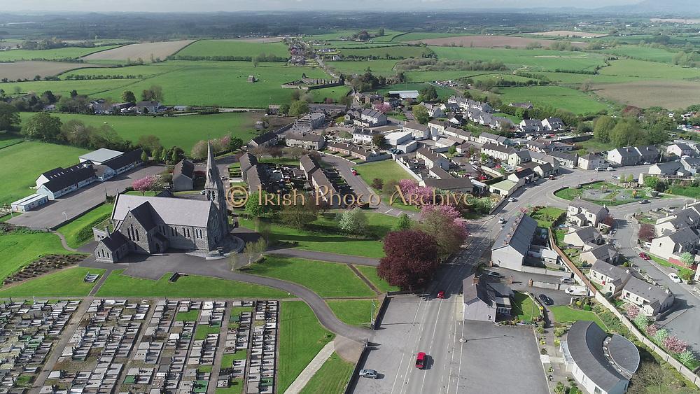 Louth Village Saint Mcochtas church, abbey, credit, union, school, shops, pub, Saint, Machtas, Louth, Village, Church, Abbey, Credit, Union, Aerial Images photo aerial photos