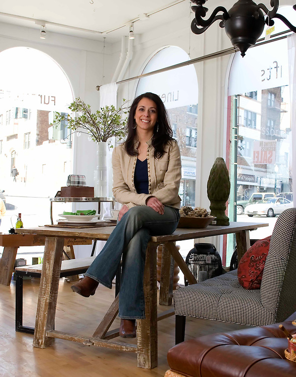 Danielle Iaboni owner of Milieu Furniture in Westchester, NY.