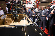 The 61. IAA (Internationale Autoausstellung) 2005 is one of the World's biggest trade fairs of the automotive industry..Ferrari press conference. Luca di Montezemolo, Ferrari president, chatting with a Chinese fan.