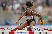 Fanny Quenot (FRA) competes on Women's 100 m Hurdles semifinal during the Jeux Mediterraneens 2018, in Tarragona, Spain, Day 6, on June 27, 2018 - Photo Stephane Kempinaire / KMSP / ProSportsImages / DPPI