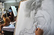 China Out - Finland Out <br /> <br /> 93-Year-Old Veteran Works As Nude Model In Guangzhou<br /> <br /> Li Jisheng, 93-year-old veteran, sits and poses in a painting class at the Guangzhou Academy of Fine Arts on October 30, 2013 in Guangzhou, Guandong Province of China. Li participated in the Korean War (1950-53) and left his hometown, a small village in Hennan Province, in 1995 to go to Guangzhou to find a job to support himself. He was lucky to spot an art teacher and became a model for painting class since then on.<br /> ©Exclusivepix