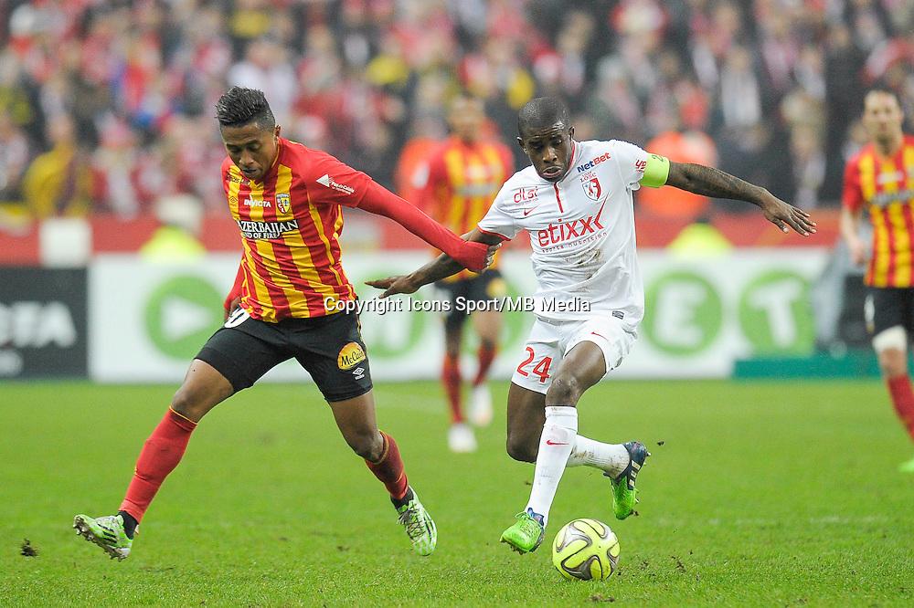 Lalaina Nomenjanahary / Rio Mavuba - 07.12.2014 - Lens / Lille - 17eme journee de Ligue 1<br />Photo : Andre Ferreira / Icon Sport
